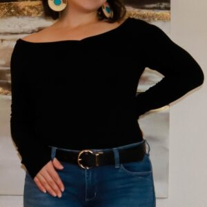 Shop Wyoming Long Sleeve Top w/ Wide Neck Line