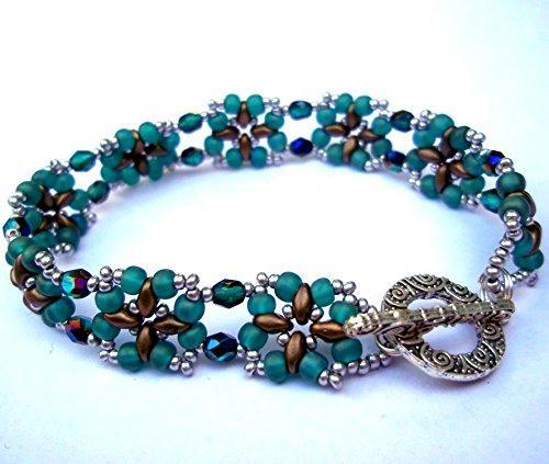 Shop Wyoming Bronze and Teal Renaissance Handmade Beaded Bracelet
