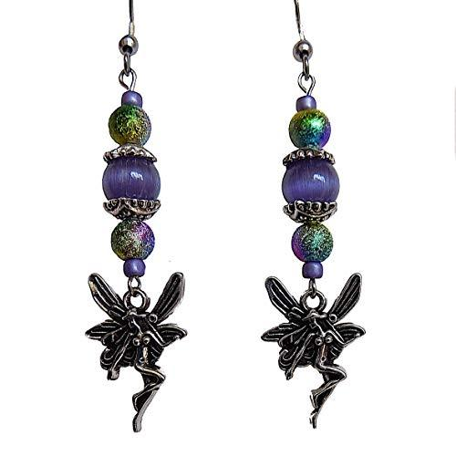 Shop Wyoming Beaded Whimsical Fairy Handmade Dangle Earrings