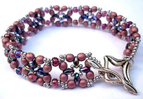 Shop Wyoming Dusty Rose Victorian Beaded Bracelet Handmade Bead-Woven