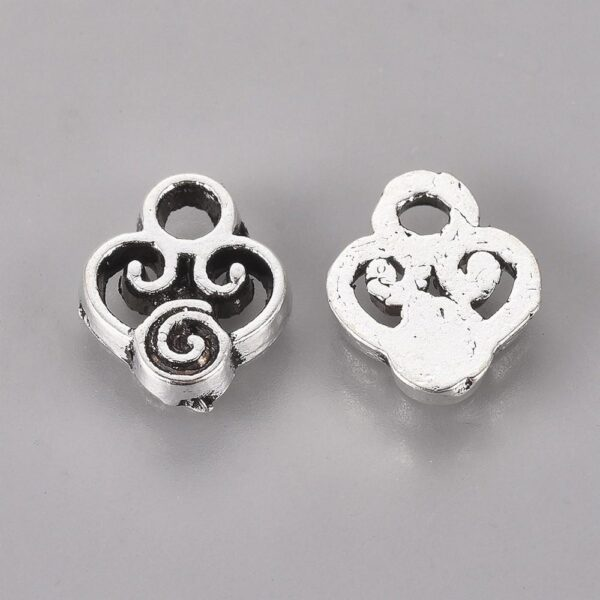Shop Wyoming 10x8mm Scroll Antique Silver Drop Charms, Lot of 20
