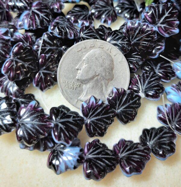Shop Wyoming Maple Leaf (13x11mm) Jet Blue Mix Silk Opaque 10ct