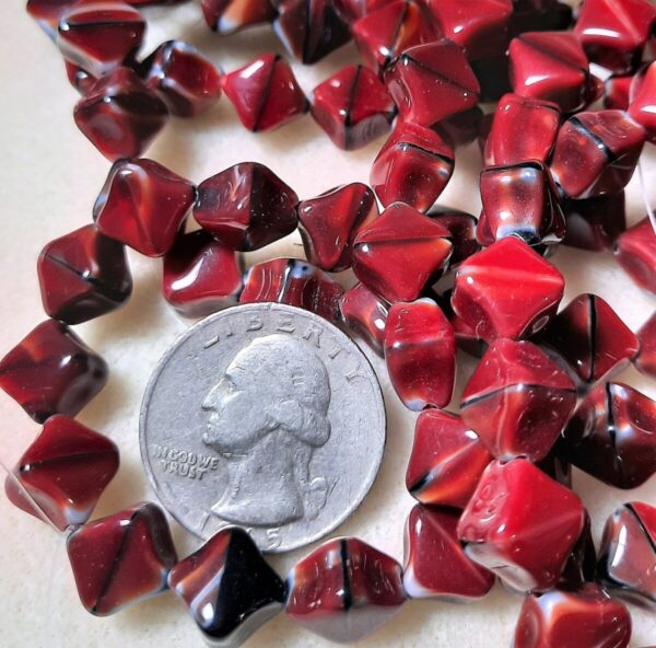 Shop Wyoming Diagonal Hole Cube (9x7mm) Red, Jet, and Grey Silk Mix 10ct