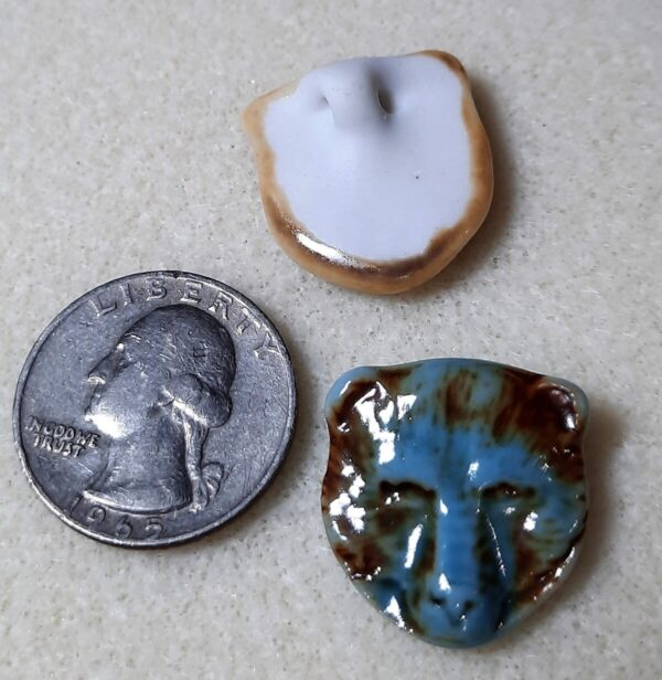 Shop Wyoming High Fired Porcelain Pendant Bear Design Turquoise over an Iron Wash