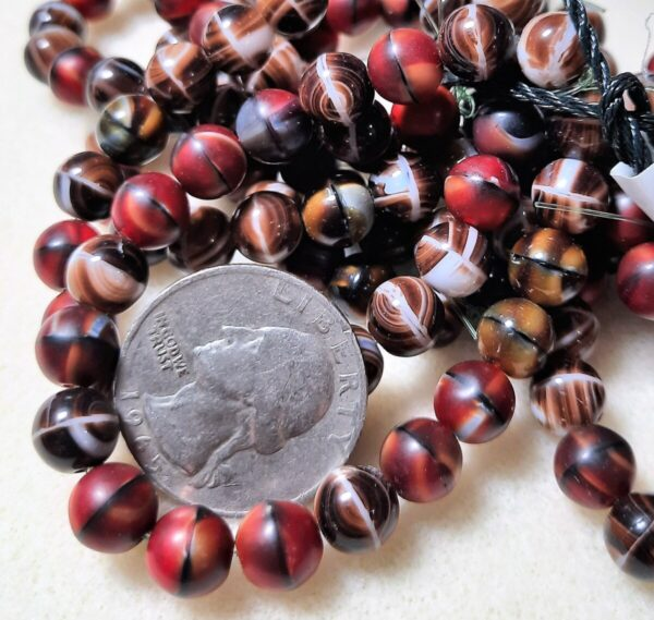 Shop Wyoming 8mm Mixed Red and Brown Round Czech Glass Beads 20ct