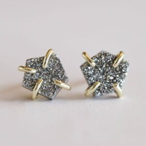 Shop Wyoming Silver druzy earrings