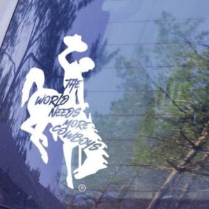 Shop Wyoming Wyoming Bucking Cowboy Decal, Wyoming Cowboys Decal, The World Needs More Cowboys