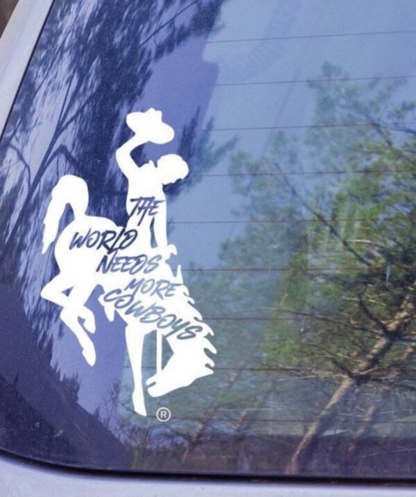 Shop Wyoming Wyoming Bucking Cowboy Decal – The World Needs More Cowboys