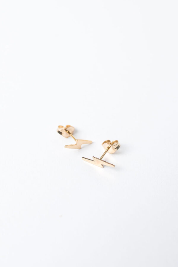 Shop Wyoming Tiny Bolt Earrings | Gold Filled