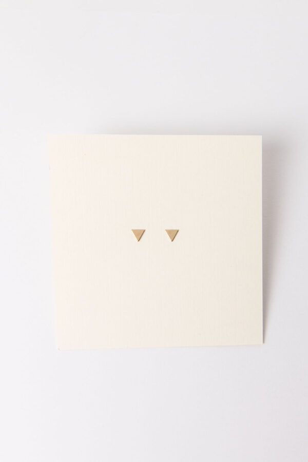 Shop Wyoming Tiny Triangle Stud Earrings   Gold Filled