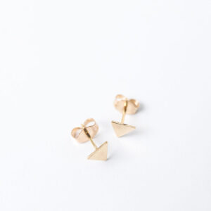 Shop Wyoming Tiny Triangle Stud Earrings | Gold Filled