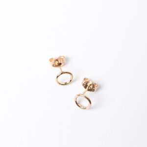 Shop Wyoming Tiny Circle Stud Earrings | Gold Filled