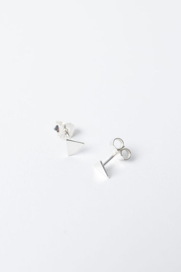Shop Wyoming Tiny Triangle Stud Earrings | Sterling Silver