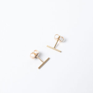 Shop Wyoming Tiny Bar Stud Earrings | Gold Filled