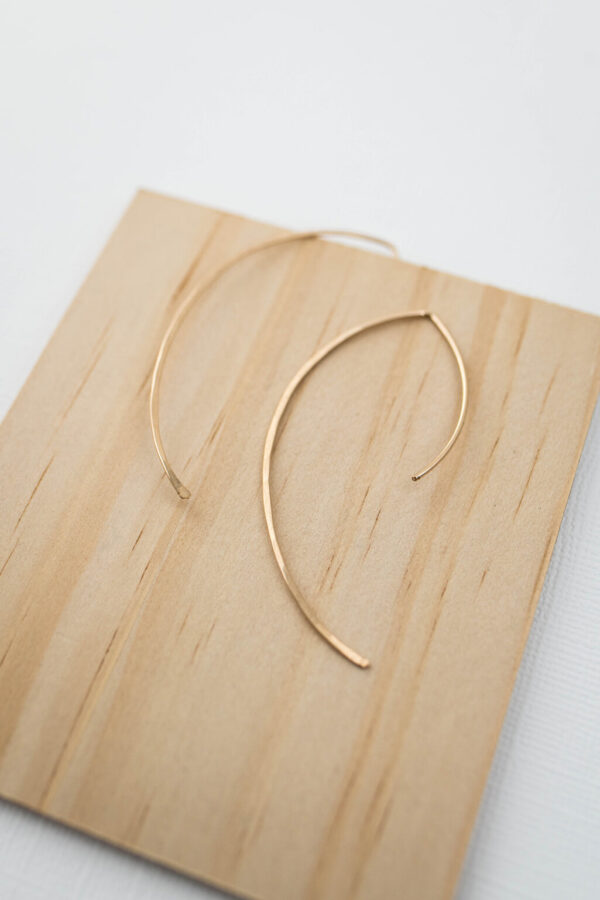 Shop Wyoming Arch Earrings   Gold Filled
