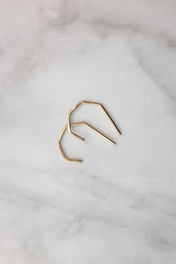 Shop Wyoming Geo Stud Earrings | Gold Filled