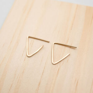 Shop Wyoming Triangle Stud Earrings | Gold Filled