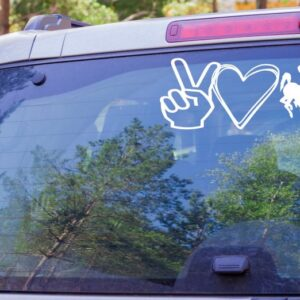 Shop Wyoming Peace Love Cowboys Decal, Wyoming Bucking Cowboy Decal, Wyoming Cowboys Decal