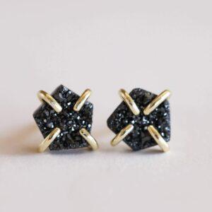 Shop Wyoming Natural druzy stone earrings