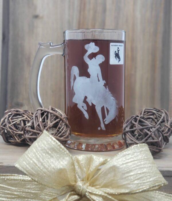 Shop Wyoming Steamboat Etched Beer Mug – 16 oz