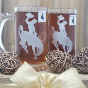 Shop Wyoming Steamboat Etched Beer Mug – 26.5 oz – Set of 2 Mugs