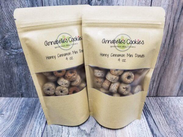 Shop Wyoming Honey Cinnamon Mini Donuts Handmade Gourmet Dog Treats – 4 oz. Bag