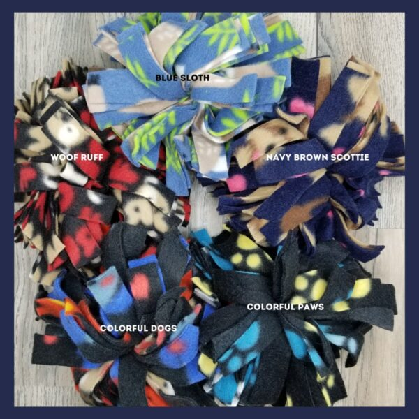 Shop Wyoming Snuffle Ball Soft Handmade Fleece Toys for Dogs – Large – 8 inch