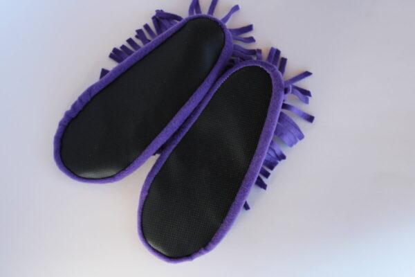Shop Wyoming Purple Moccasin Slippers/ Non Slip Slipper Socks