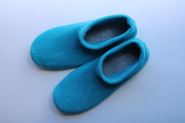 Shop Wyoming Turquoise Slippers/ Non Slip Slipper Socks