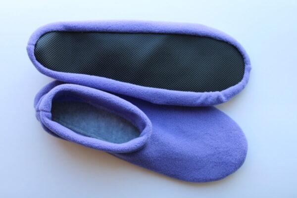Shop Wyoming Purple Slippers/ Non Slip Slipper Socks