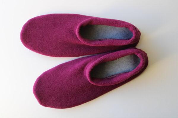 Shop Wyoming Magenta Slippers/ Non Slip Slipper Socks