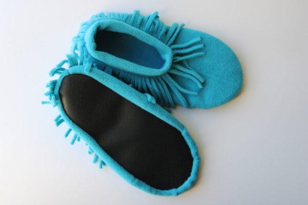Shop Wyoming Turquoise Moccasin Slippers/ Non Slip Slipper Socks