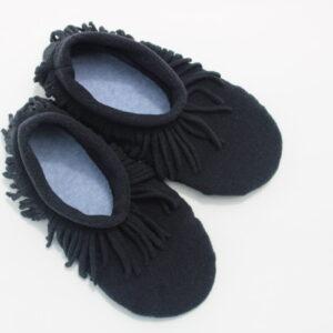 Shop Wyoming Black Moccasin Slippers/ Non Slip Slipper Socks