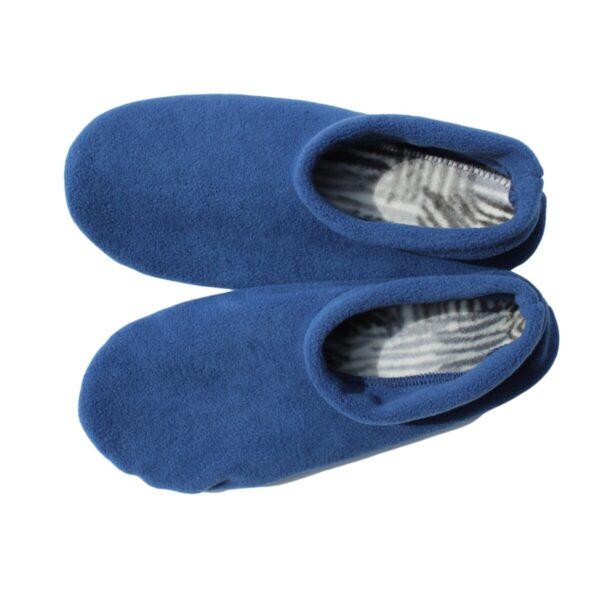 Shop Wyoming Blue Moccasin Slippers/ Non Slip Slipper Socks