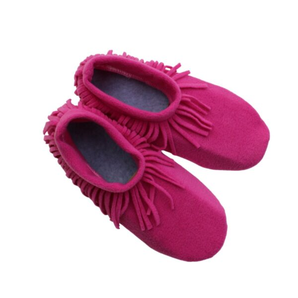 Shop Wyoming Hot Pink Moccasin Slippers/ Non Slip Slipper Socks
