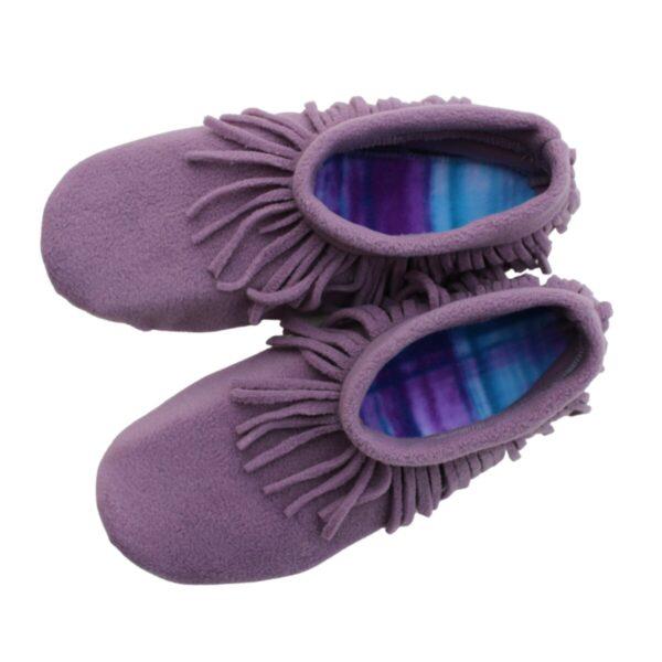 Shop Wyoming Elderberry Moccasin Slippers/ Non Slip Slipper Socks