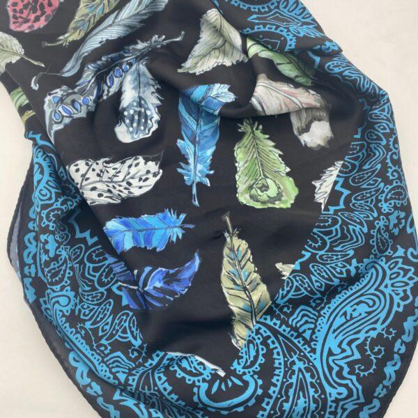 "Shop Wyoming ""Feather Bouquet"" wild rag | 36″ x 36″"