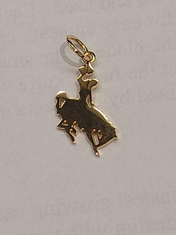 Shop Wyoming Wyoming Bucking Horse Pendant 14k Gold