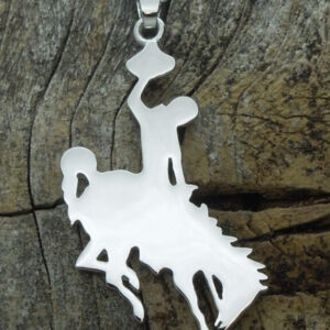 Shop Wyoming Bucking Horse Pendant-Sterling Silver
