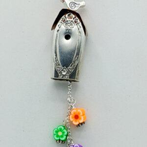 Shop Wyoming Silverware Flower Dangle Birdhouse Necklace