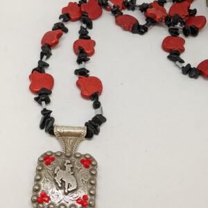Shop Wyoming Red Apple Bucking Horse Concho Necklace