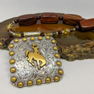Shop Wyoming Wooden Bucking Horse Concho Necklace