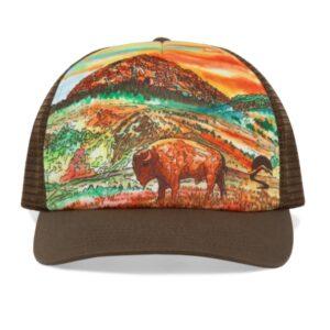 Shop Wyoming Yellowstone Trucker Hat | Original Artwork
