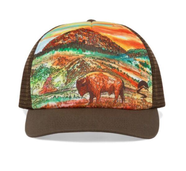 Shop Wyoming Yellowstone Trucker Hat   Original Artwork