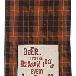Shop Wyoming Beer Afternoon Dishtowel | Embroidered Applique