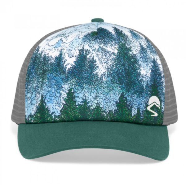 Shop Wyoming Custom Mountain Trucker Hat with UV Protection