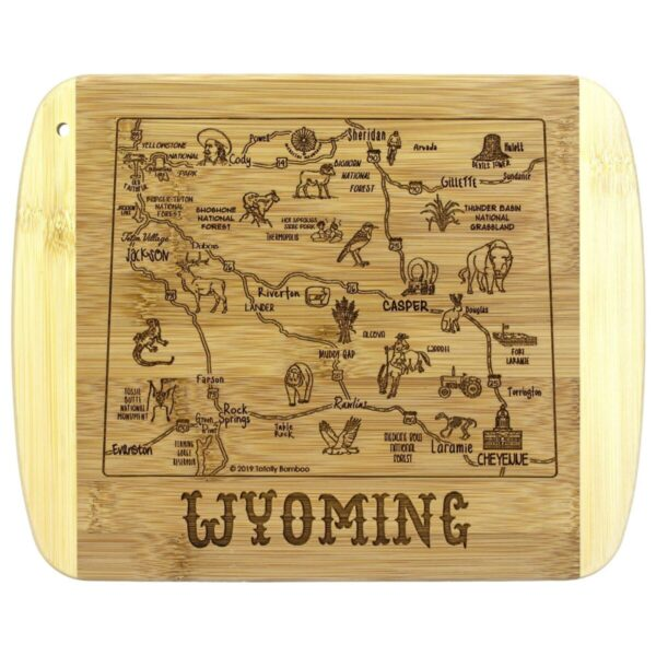 Shop Wyoming A Slice of Life Wyoming Gift Cutting & Serving Board