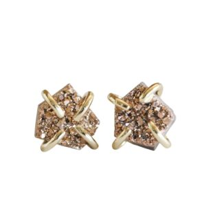 Shop Wyoming Natural Gold Druzy Studs | Handmade in the USA